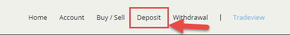 Bitstamp deposit button