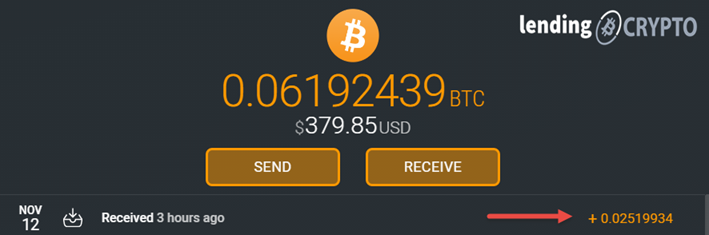 Show Bitcoin receival in your Exodus Wallet